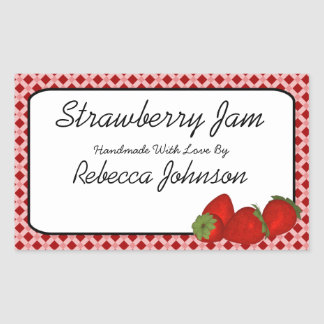Strawberry Jam Custom Text Jar Label
