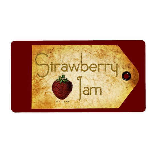 Strawberry Jam Label Shipping Label