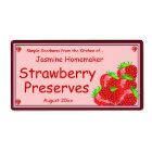Strawberry Jam or Preserves Home Canning Jar