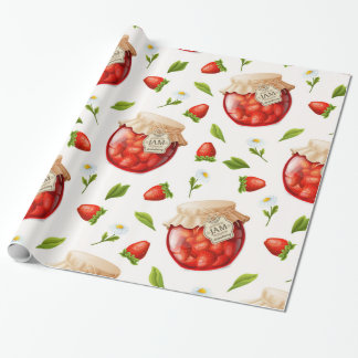 Strawberry Jam Wrapping Paper
