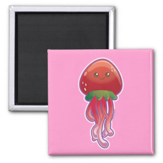 Strawberry Jellyfish Refrigerator Magnets