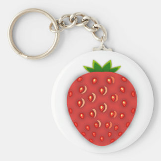 Strawberry Key Ring