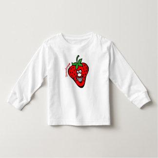 Strawberry *Kids White Long Sleeve Tshirts