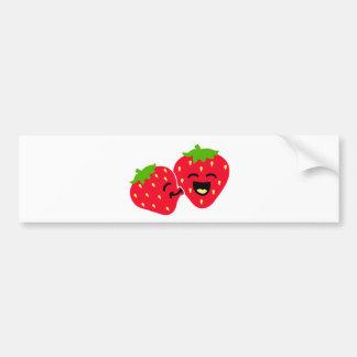 Strawberry Kiss Car Bumper Sticker