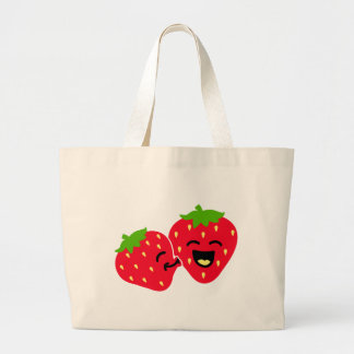 Strawberry Kiss Canvas Bag