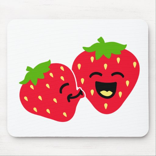 Strawberry Kiss Mouse Pads