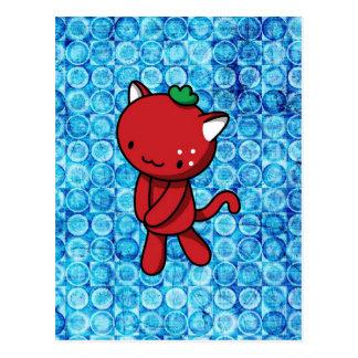 Strawberry Kitty Postcard