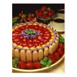 Strawberry lady finger cake