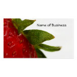 Strawberry Leaves With Business Name Pack Of Standard Business Cards