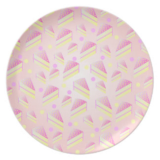 Strawberry Lemon Cake Pattern Plate