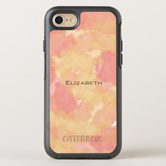 strawberry lemon watercolor abstract OtterBox symmetry iPhone 8/7 case