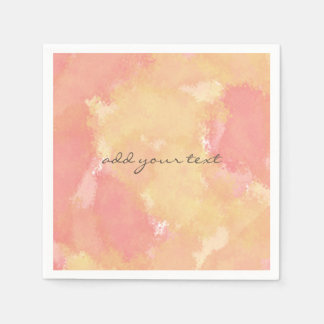 strawberry lemon watercolor abstract paper napkin