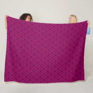 Strawberry Lemonade Triangle Pattern Fleece Blanket