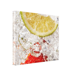 Strawberry Lime Drink Gallery Wrapped Canvas