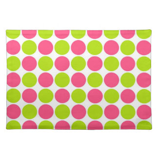 Strawberry & Lime Polka Dots Placemats