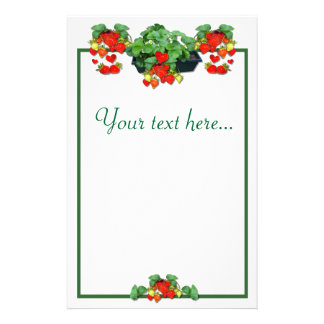 STRAWBERRY LOVE  - Stationary # 2 Personalized Stationery
