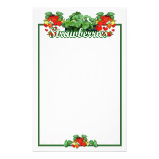 STRAWBERRY LOVE  - Stationary Personalised Stationery