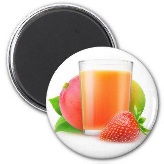 Strawberry mango smoothie 6 cm round magnet