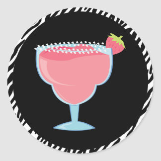 Strawberry Margarita Classic Round Sticker
