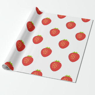 Strawberry Matte Wrapping Paper