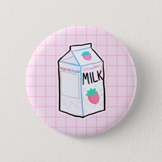 Strawberry Milk Button