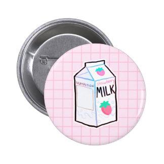 Strawberry Milk Button