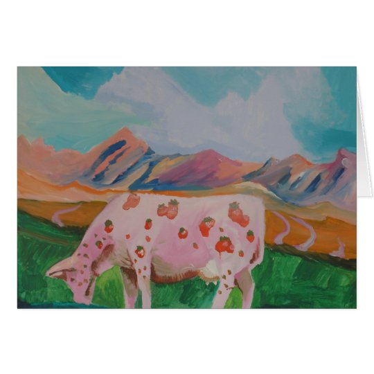 Strawberry Milk Cow by Stephen R. Card
