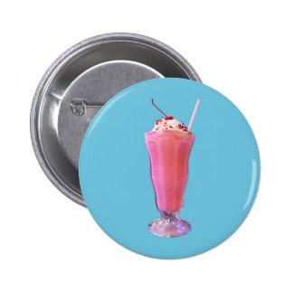Strawberry Milkshake 6 Cm Round Badge