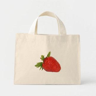 strawberry mini tote bag