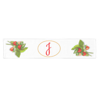 Strawberry Monogram Short Table Runner