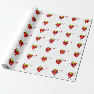 Strawberry Monster Wrapping Paper