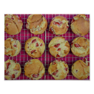 Strawberry muffins poster