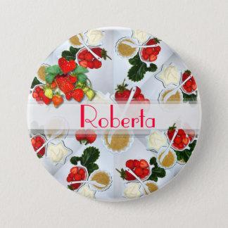 Strawberry Name Button ~ Button/Pin