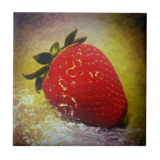 strawberry network small square tile