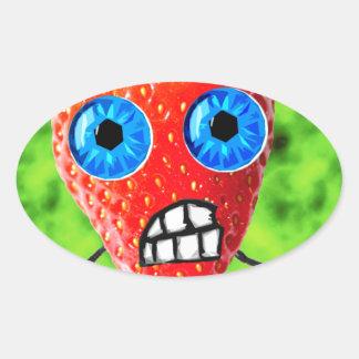 StrawBerry Oval Sticker