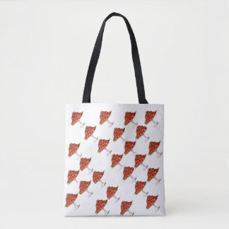 Strawberry over stand -totebag tote bag