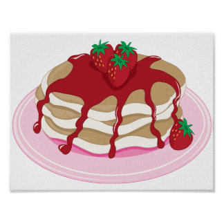 Strawberry Pancakes Poster