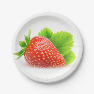 Strawberry Paper Plate