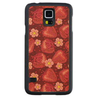 Strawberry Pattern 2 2 Carved Maple Galaxy S5 Case