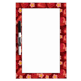 Strawberry Pattern 2 2 Dry Erase Board