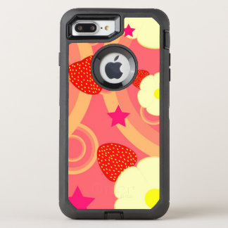Strawberry Pattern 2 OtterBox Defender iPhone 8 Plus/7 Plus Case