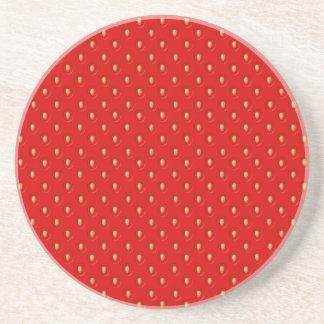 Strawberry Pattern Coaster