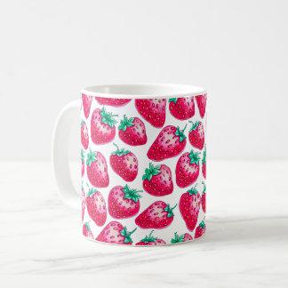 Strawberry pattern coffee mug
