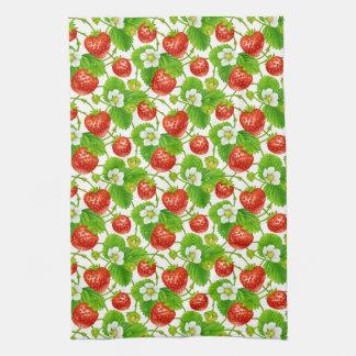 Strawberry Pattern Kitchen Towel