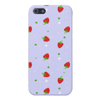 Strawberry Pattern & lilac background iPhone 5/5S Cases