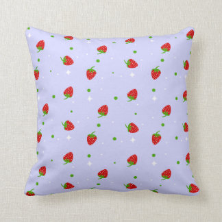 Strawberry Pattern on Lilac cushion