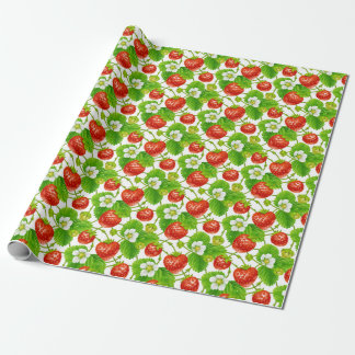 Strawberry Pattern Wrapping Paper
