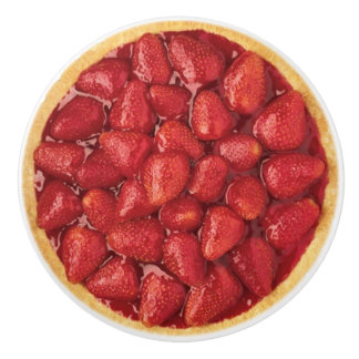 Strawberry Pie Ceramic Knob