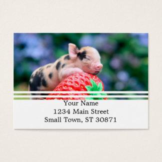 strawberry pig business card