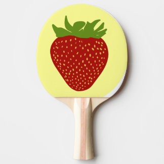 strawberry ping pong paddle